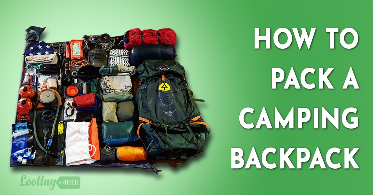 how to pack camping backpack